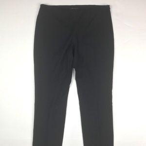 Theory Black Ankle Pants Women size 6 Slim